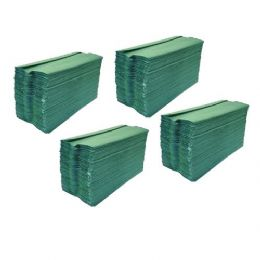Green C Fold Paper Hand Towels 1 Ply